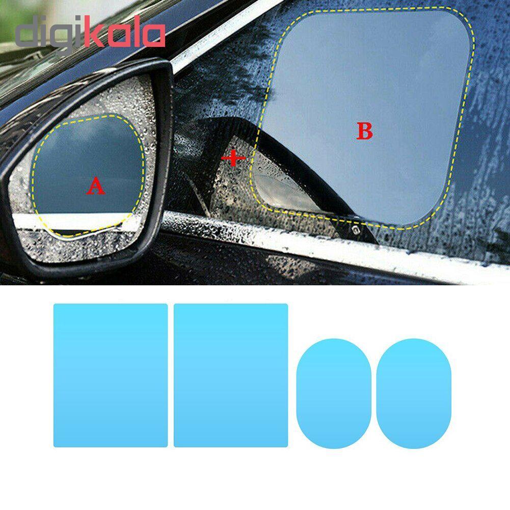 برچسب و محافظ ضد آب شیشه و  آینه خودرو مدل HD01 مجموعه 4عددی main 1 1