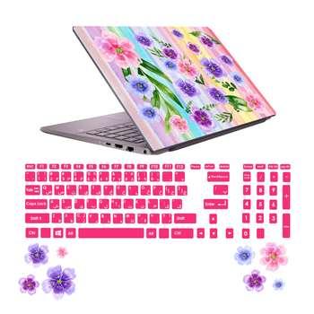 استیکر لپ تاپ صالسو آرت مدل 5004 hk به همراه برچسب حروف فارسی کیبورد
