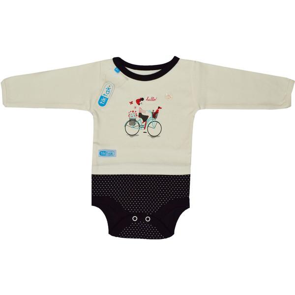 بادی آستین بلند نوزادی تیک تاک طرح دوچرخه کد 03