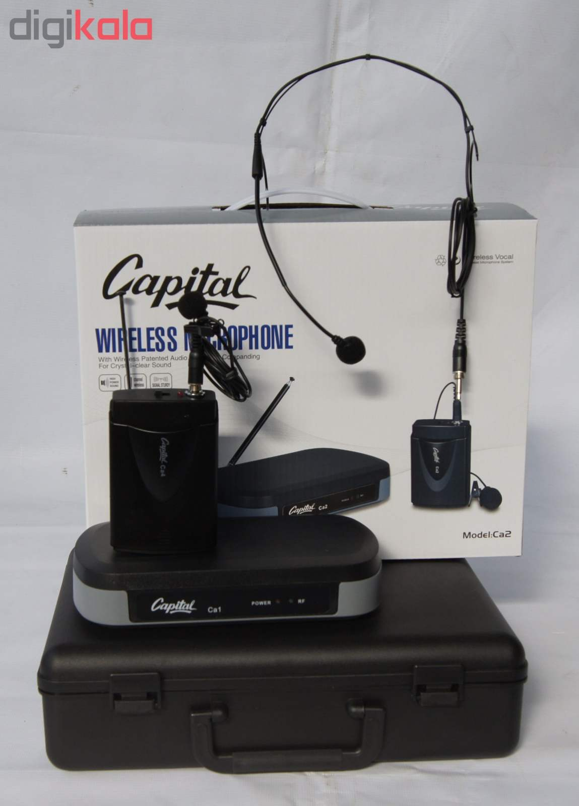 ست میکروفن بی سیم کاپیتال مدل Ca2 main 1 3