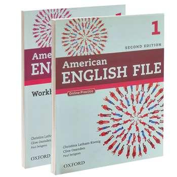 کتاب American English file 1 اثر جمعی از نویسندگان انتشارات Oxford دو جلدی