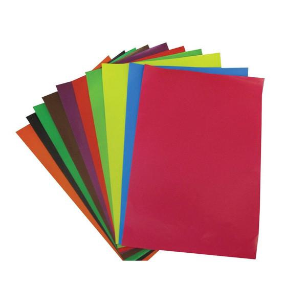 کاغذ رنگی A4 مدل KR01 بسته 10 عددی