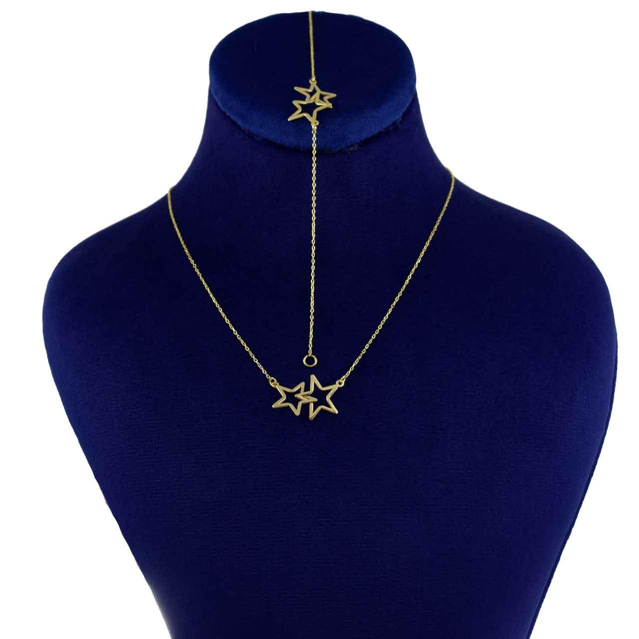 نیم ست طلا 18 عیار زنانه کانیار گالری کد 1433
