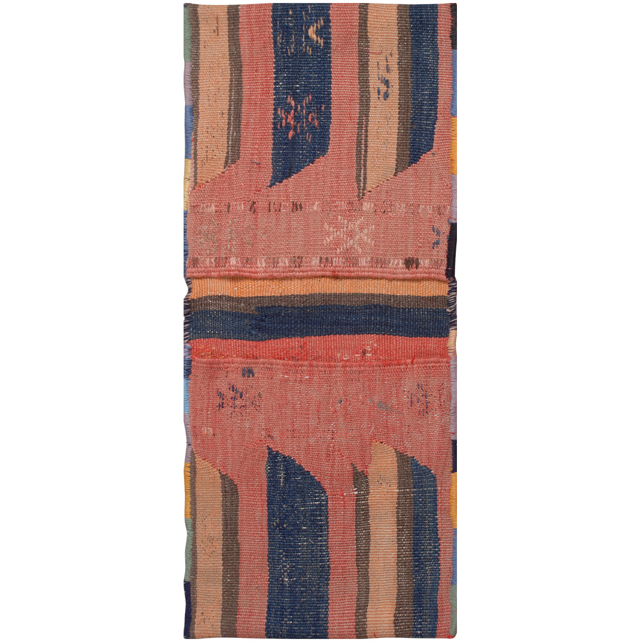 خورجین دستبافت قدیمی فرش هريس کد 101303