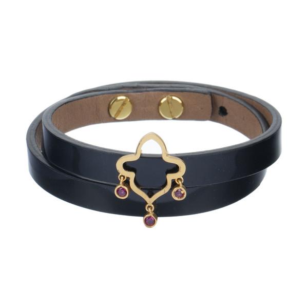 دستبند طلا 18 عیار زنانه تاج درسا مدل TAJ570-BL