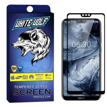 محافظ صفحه نمایش وایت ولف مدل WGF مناسب برای گوشی موبایل نوکیا Nokia X6 / 6.1 Plus