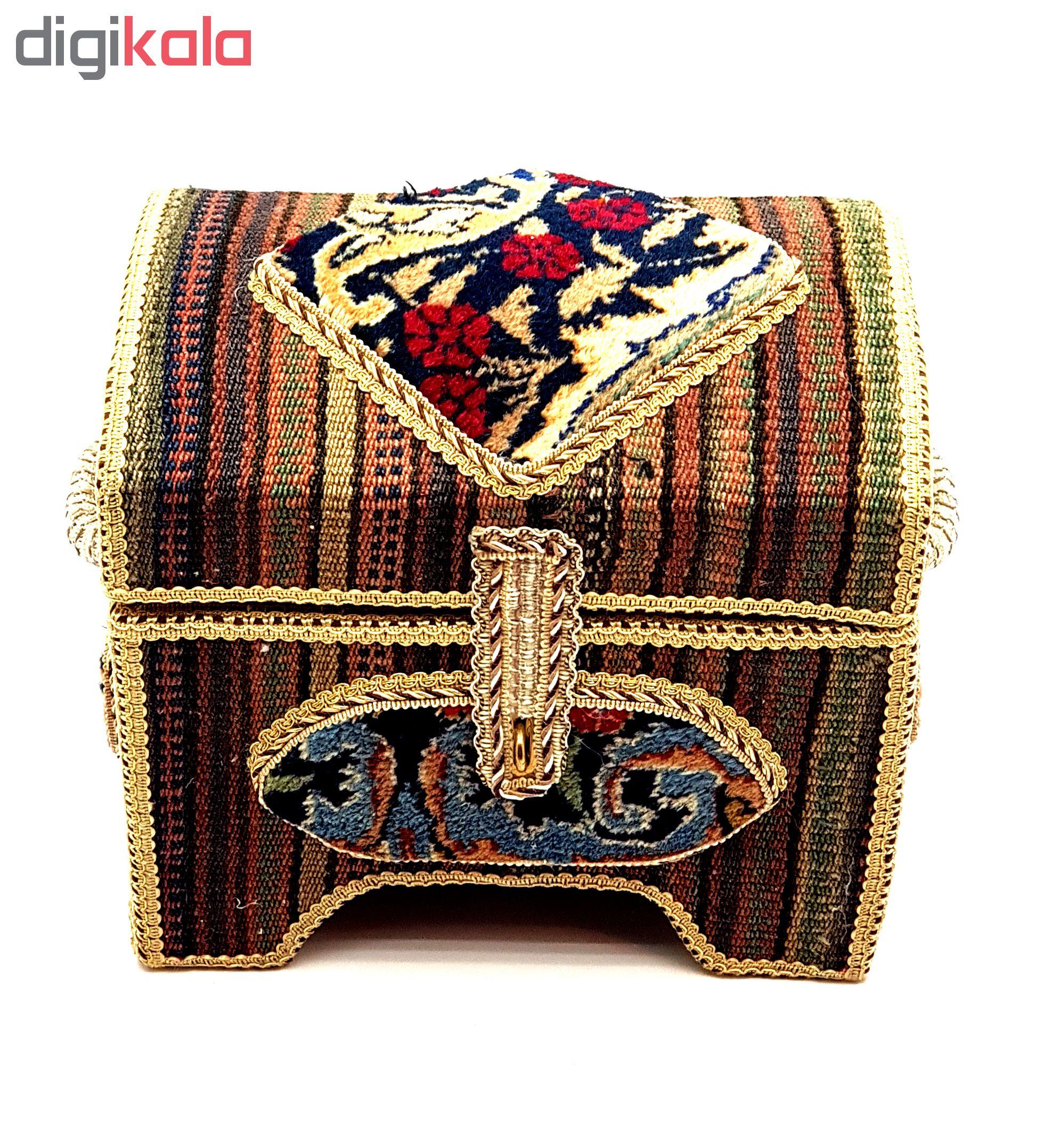 صندوقچه تزئینی طرح گلیم کد 30