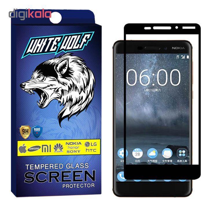 محافظ صفحه نمایش وایت ولف مدل WGF مناسب برای گوشی موبایل نوکیا Nokia 6.1 / 6 2018 main 1 1