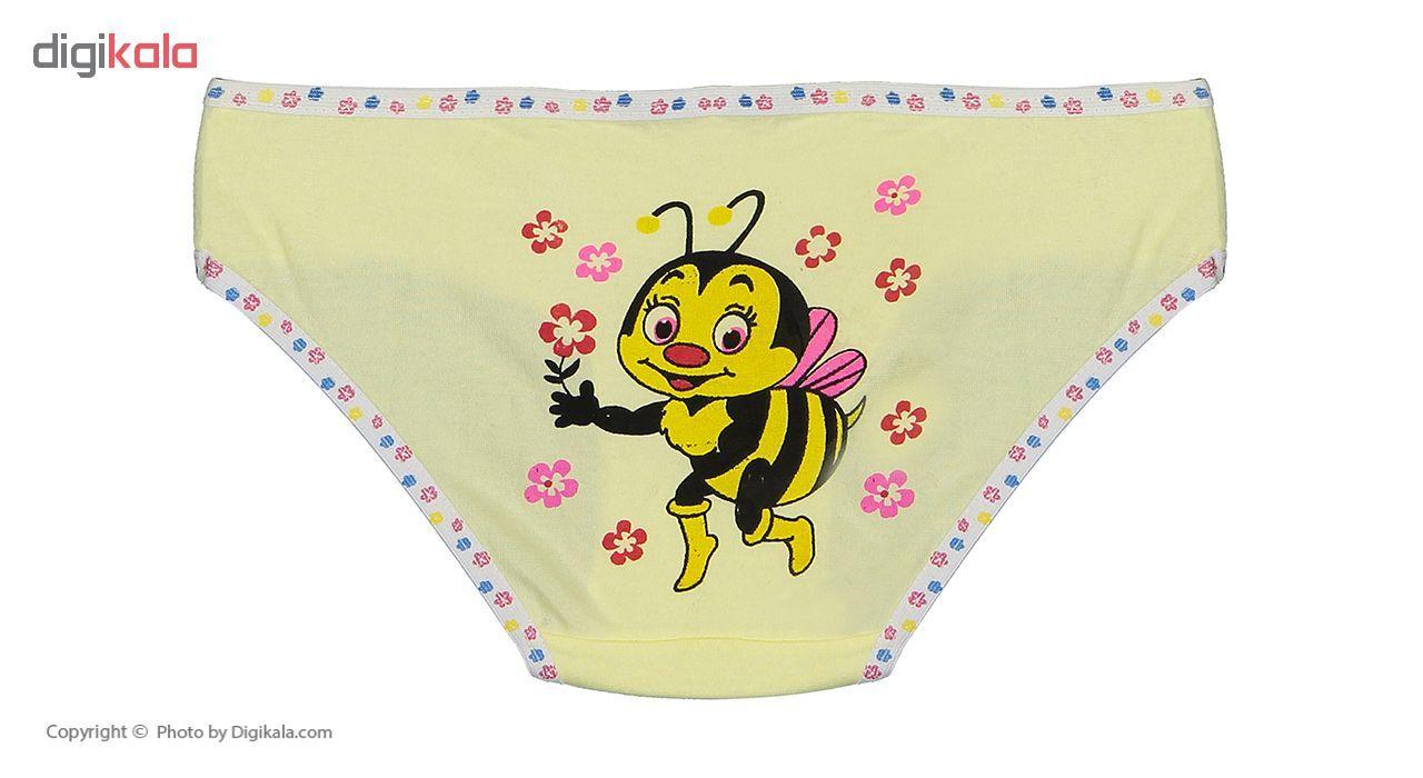 شورت دخترانه مینل طرح زنبور مجموعه 6 عددی main 1 3