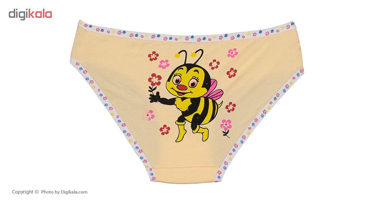 شورت دخترانه مینل طرح زنبور مجموعه 6 عددی main 1 5