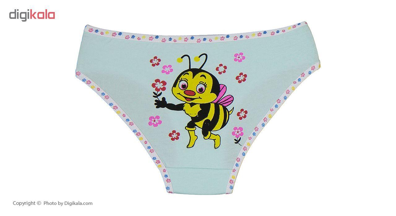شورت دخترانه مینل طرح زنبور مجموعه 6 عددی main 1 7