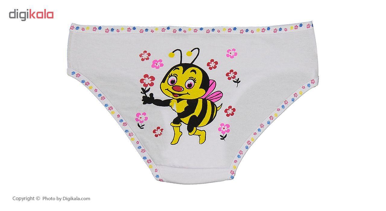 شورت دخترانه مینل طرح زنبور مجموعه 6 عددی main 1 9