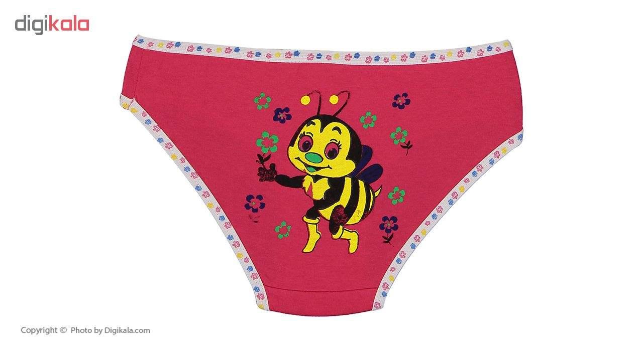 شورت دخترانه مینل طرح زنبور مجموعه 6 عددی main 1 11