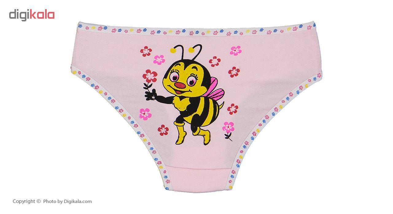 شورت دخترانه مینل طرح زنبور مجموعه 6 عددی main 1 13