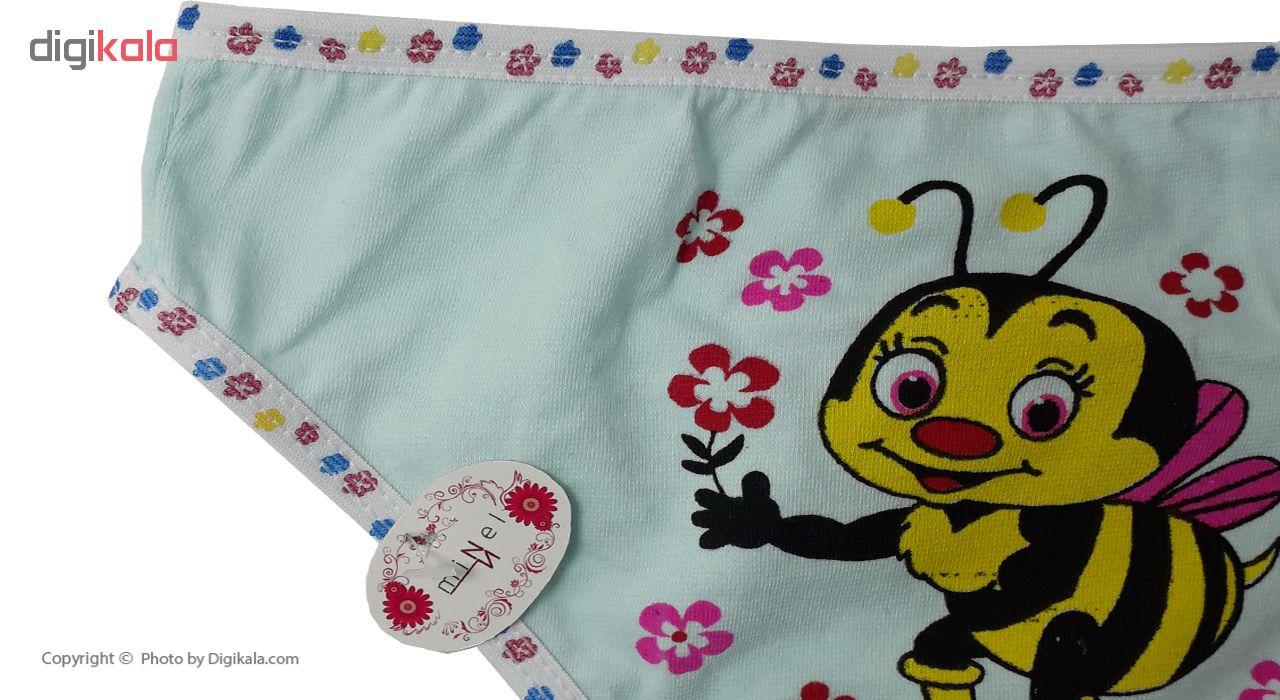 شورت دخترانه مینل طرح زنبور مجموعه 6 عددی main 1 15
