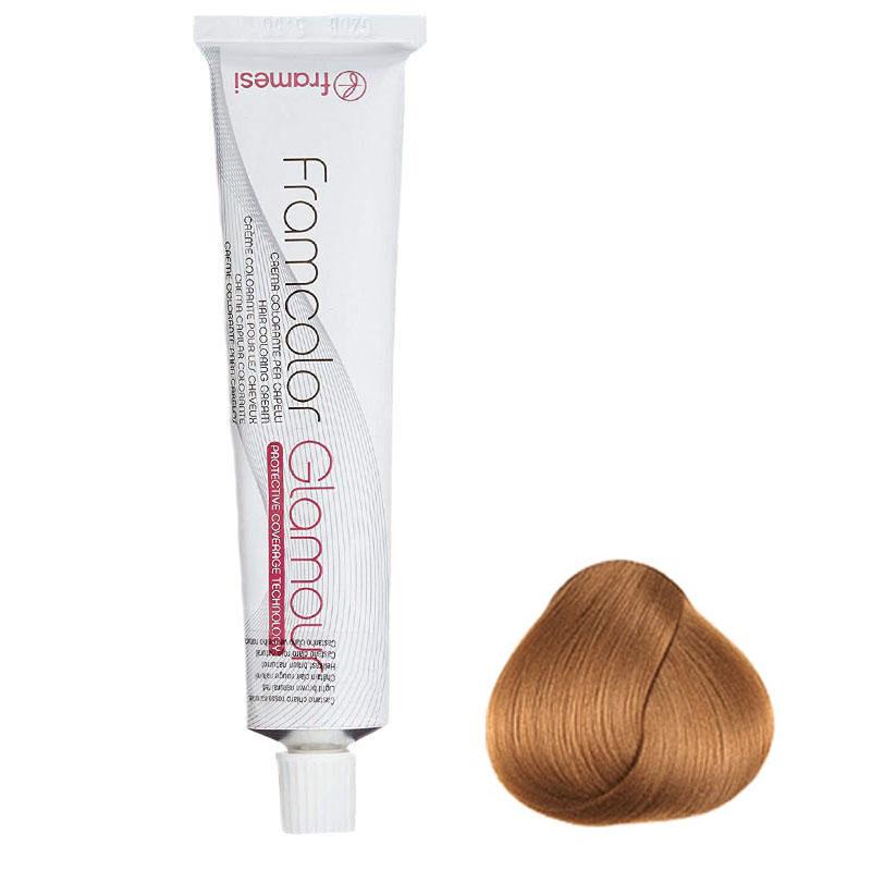 رنگ مو فرامسی مدل glamour  شماره 8.34 حجم 100 میلی لیتر رنگ بلوند مسی طلایی روشن