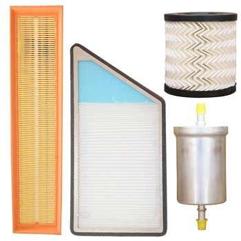 فیلتر هوا خودرو سرعت فیلتر مدل C289 مناسب برای پژو 206 به همراه فیلتر کابین و فیلتر روغن و فیلتر بنزین