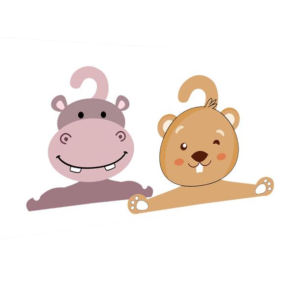 چوب لباسی نوزادی جیک جیک طرح سمور و اسب آبی مجموعه 2 عددی