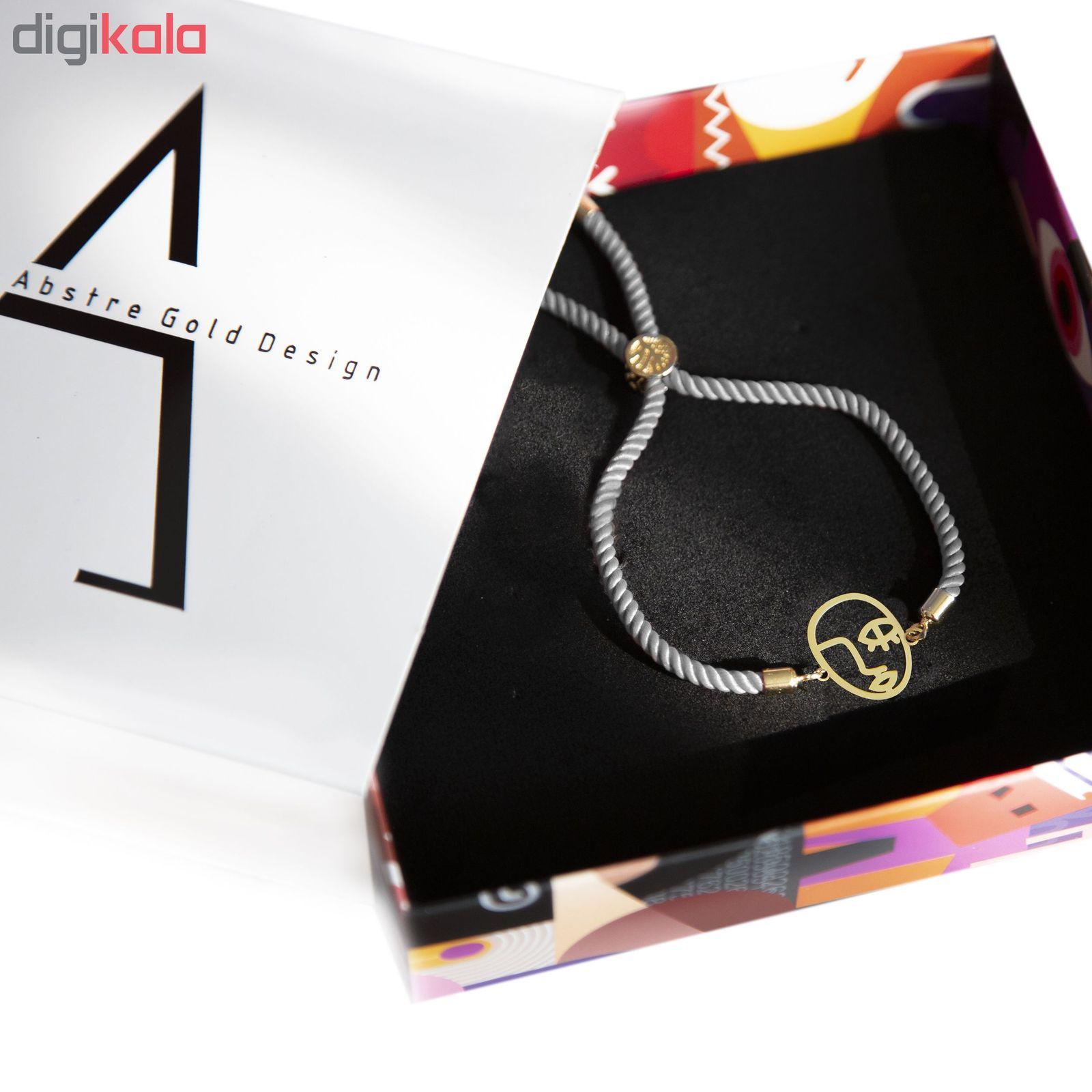 دستبند طلا 18 عیار زنانه اَبستره کد DCH001 -  - 4