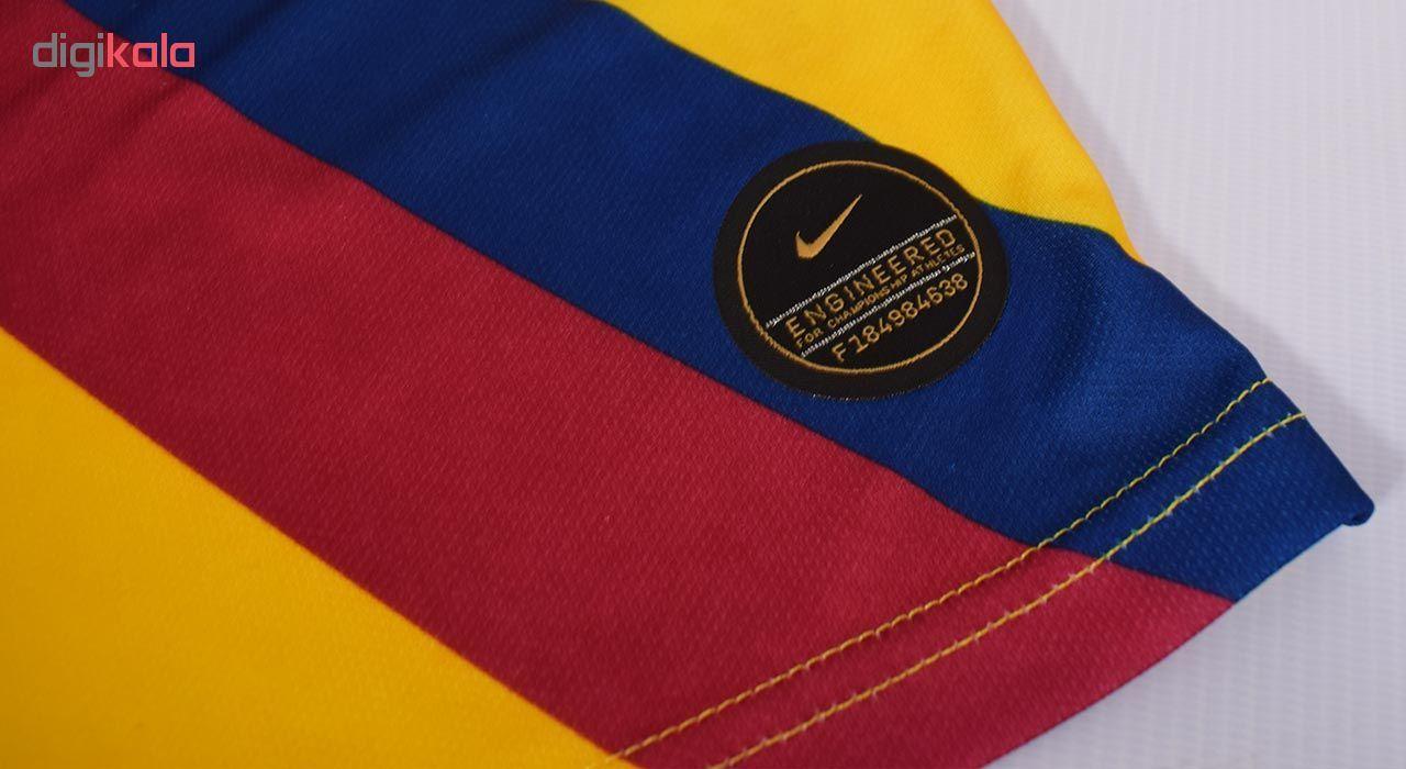 ست پیراهن و  ورزشی مردانه طرح بارسلونا کد 2019.20 رنگزرد