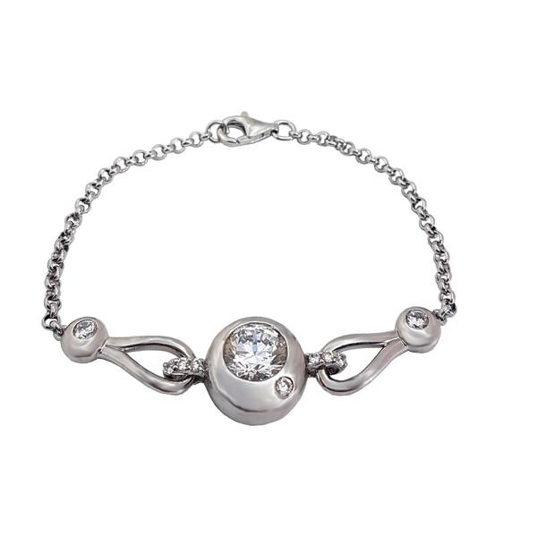 دستبند نقره زنانه زیندکو مدل F9