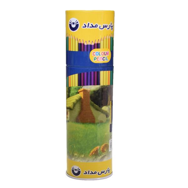 مداد رنگی 24 رنگ پارس مداد کد 02
