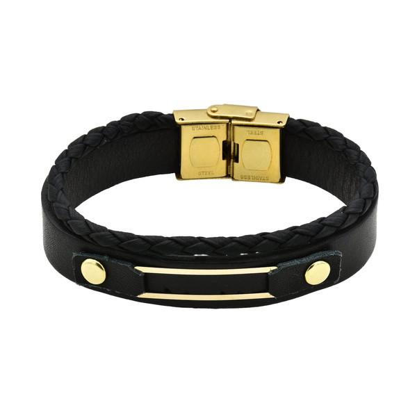 دستبند طلا 18 عیار زنانه آمانژ طرح مستطیل کد 646D3067