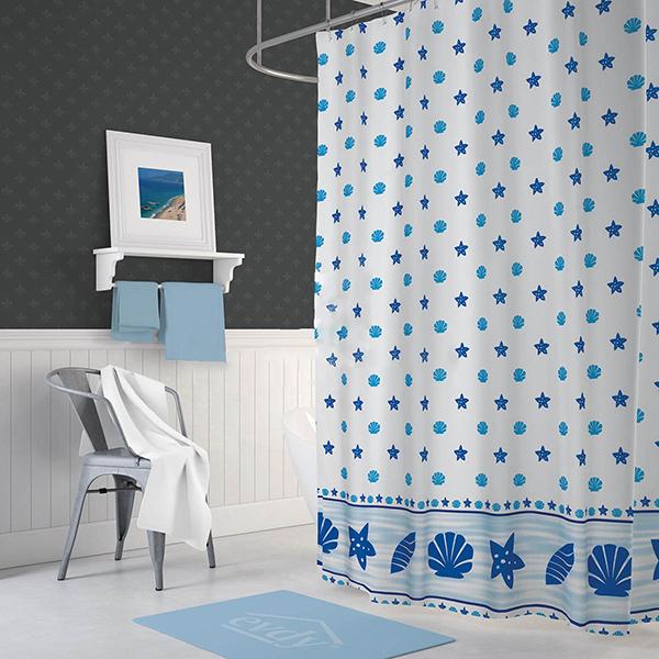 پرده حمام دلفین کد Ev-4910 سایز 200×180 سانتی متر