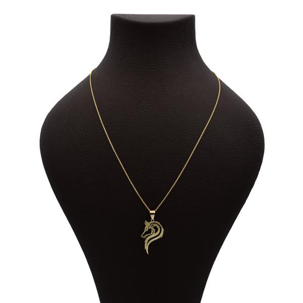 گردنبند طلا 18 عیار زنانه آمانژ طرح اسب کد 650D3069