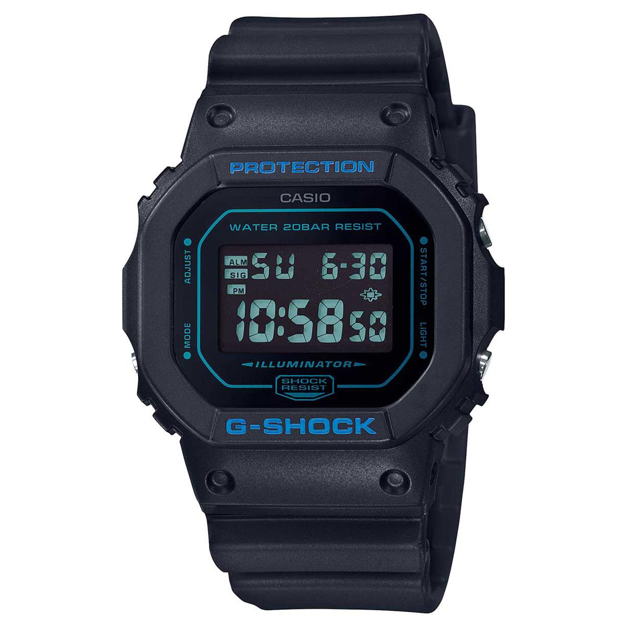 کد تخفیف                                      ساعت مچی دیجیتال مردانه کاسیو کد DW-5600BBM-1DR