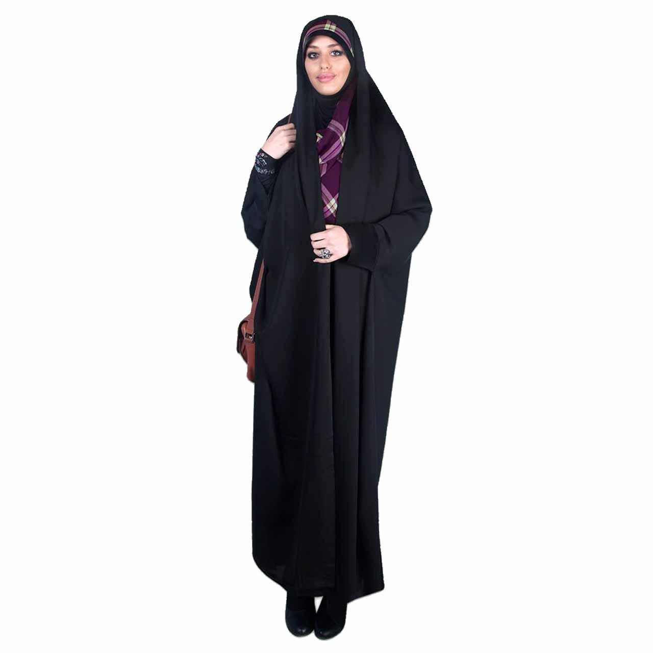 چادر دانشجویی مچ دار ابریشم (کد 7001) حجاب آراسته سایز M