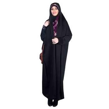 چادر دانشجویی مچ دار ابریشم (کد 7001) حجاب آراسته سایز XL