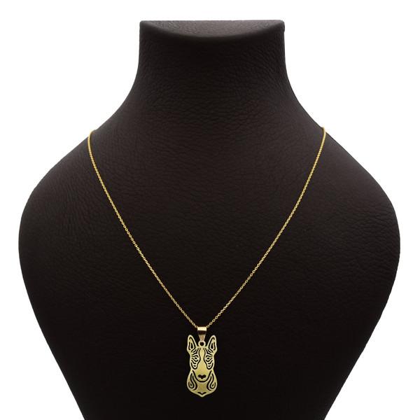 گردنبند طلا 18 عیار زنانه آمانژ طرح سگ کد 657D3076