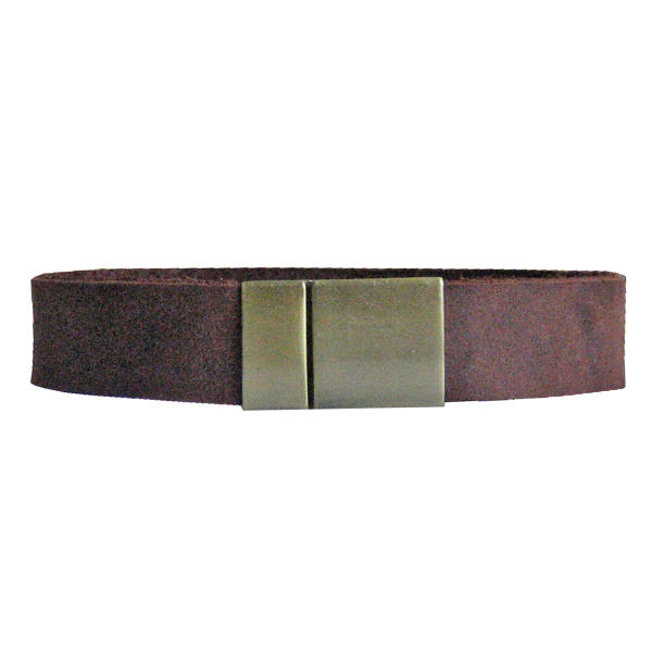 دستبند چرم  طبیعی دانوب مدل شباویز کد :016 سایز XL