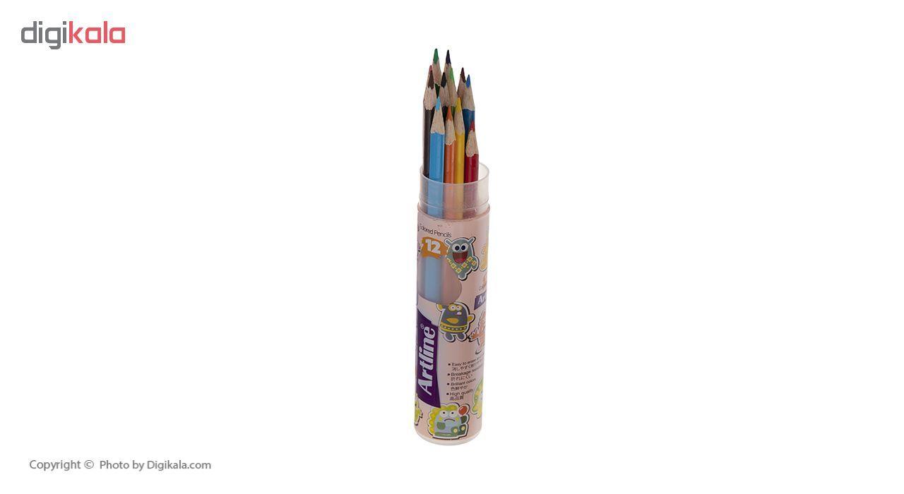 مداد رنگی 12 رنگ آرت لاین مدل ECP12-PLR/IL main 1 4