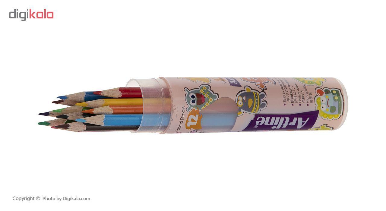 مداد رنگی 12 رنگ آرت لاین مدل ECP12-PLR/IL main 1 5