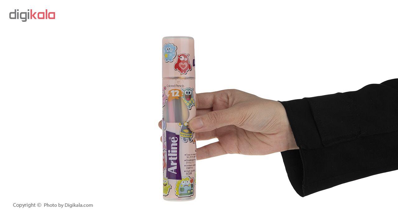 مداد رنگی 12 رنگ آرت لاین مدل ECP12-PLR/IL main 1 10