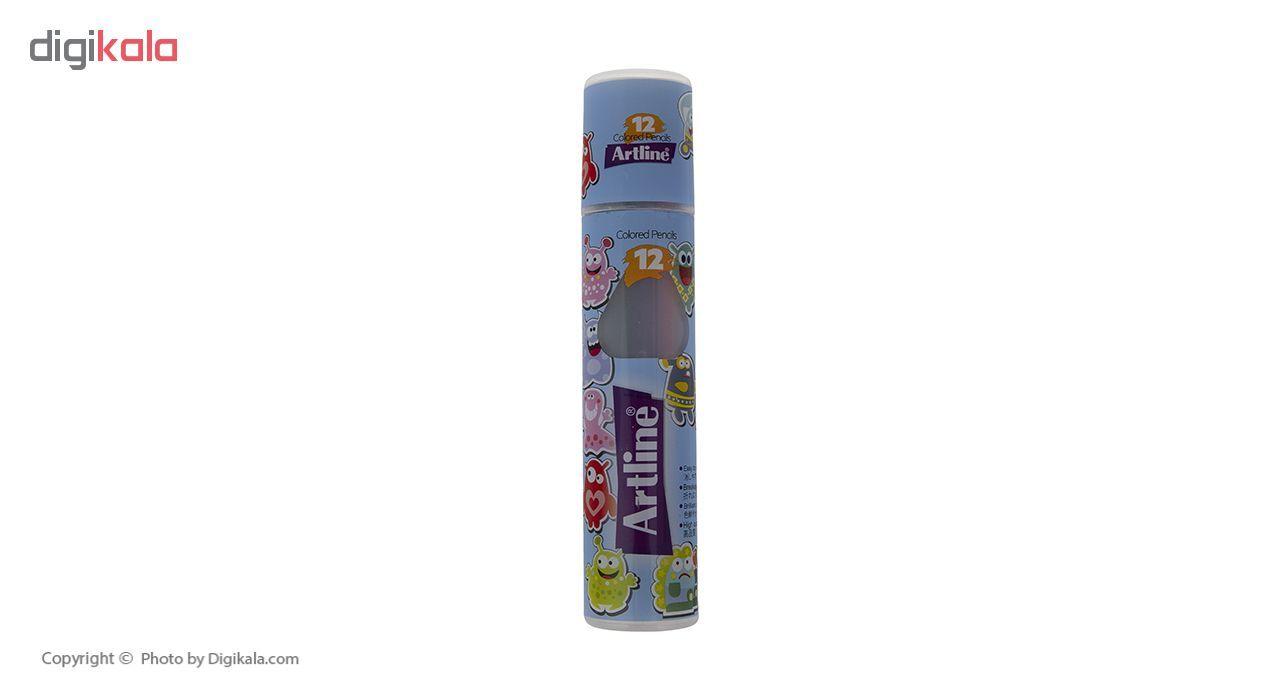 مداد رنگی 12 رنگ آرت لاین مدل ECP12-PLR/IL main 1 9