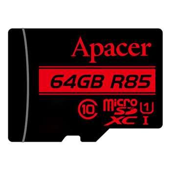 کارت حافظه microSDXC اپیسر مدل AP64G کلاس 10 استاندارد  UHS-I U1 سرعت 85MBps ظرفیت 64 گیگابایت