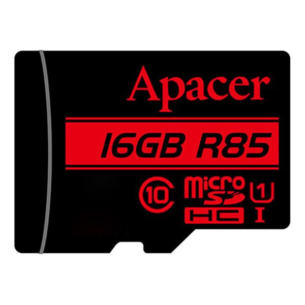 کارت حافظه microSDHC اپیسر مدل AP16G کلاس 10 استاندارد  UHS-I U1 سرعت 85MBps ظرفیت 16 گیگابایت