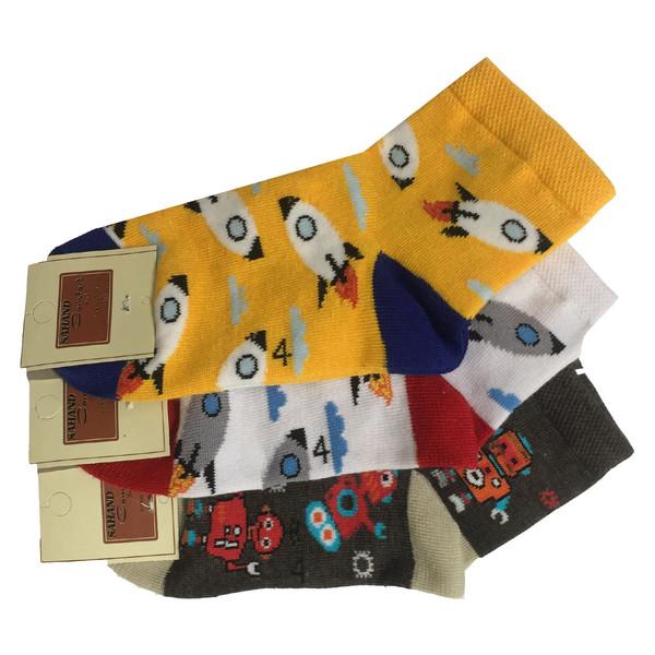 جوراب پسرانه مجموعه 3 عددی