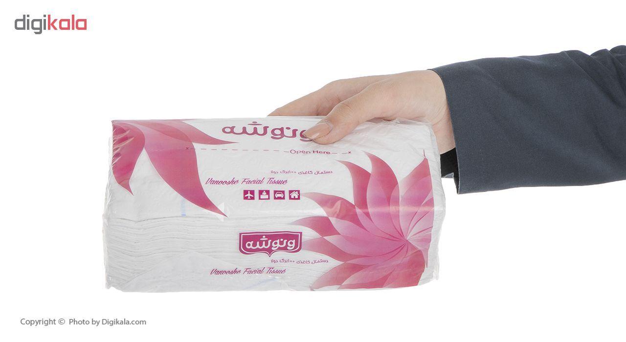 دستمال کاغذی 100 برگ ونوشه مدل Flower بسته 10 عددی main 1 4