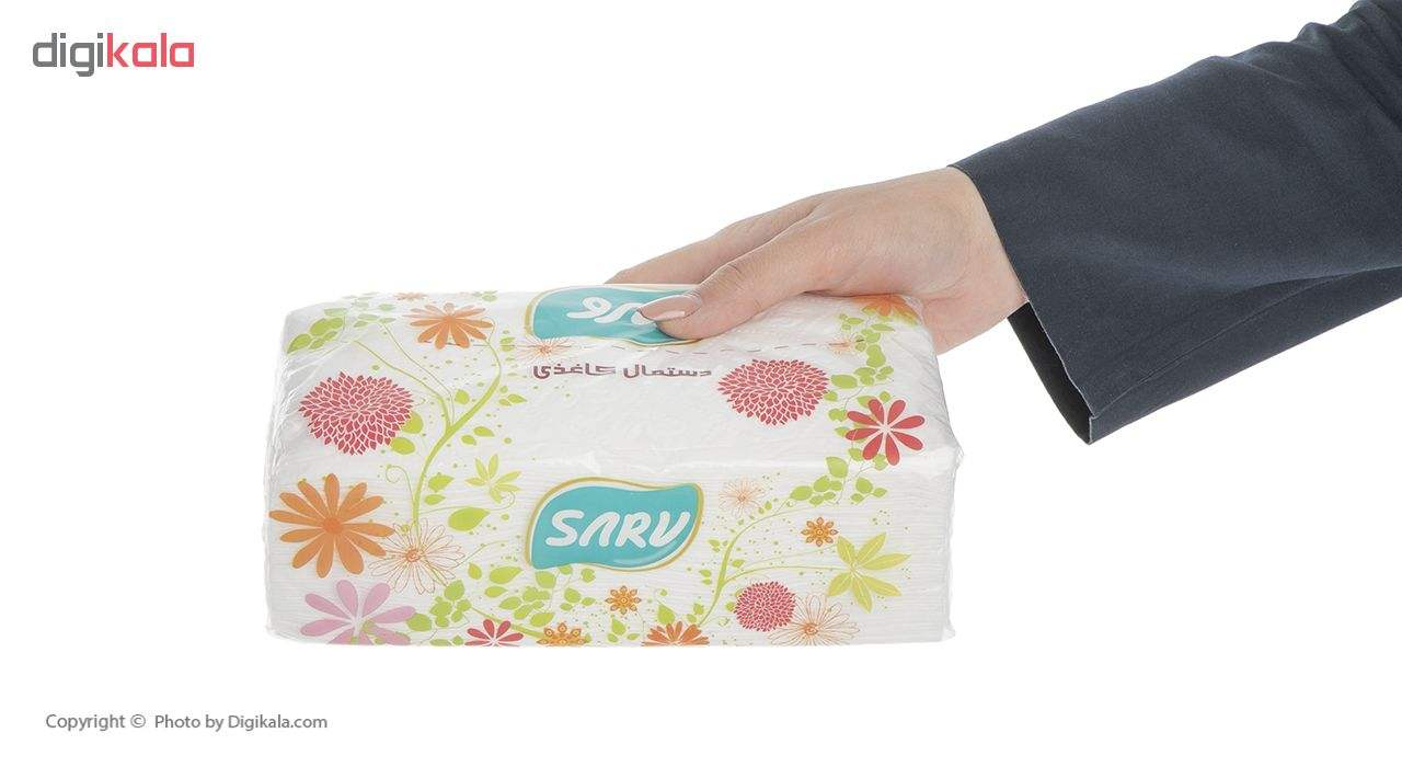 دستمال کاغذی 200 برگ سرو طرح پیچک بسته 10 عددی main 1 3