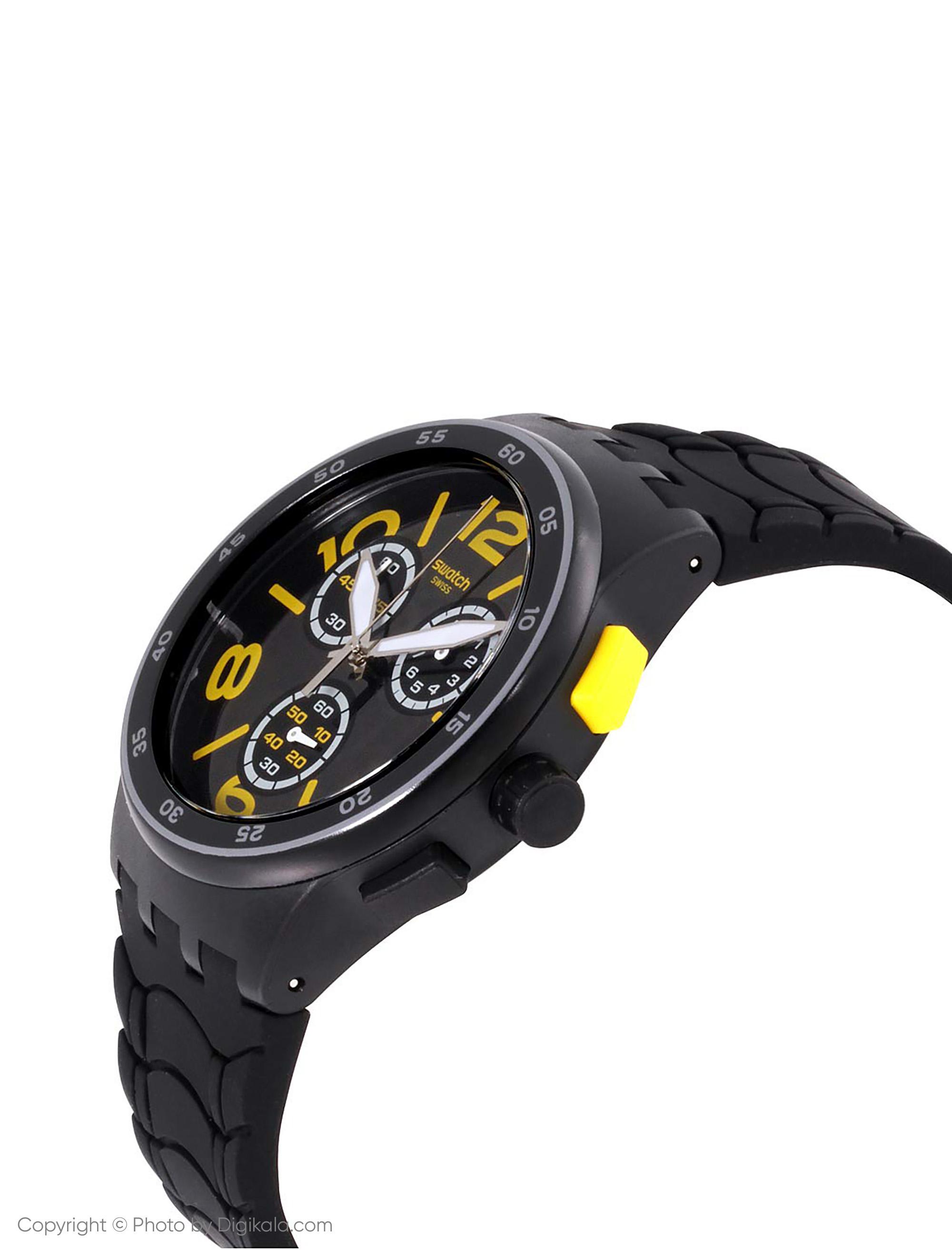 ساعت مچی عقربه ای مردانه سواچ مدل SUSB412