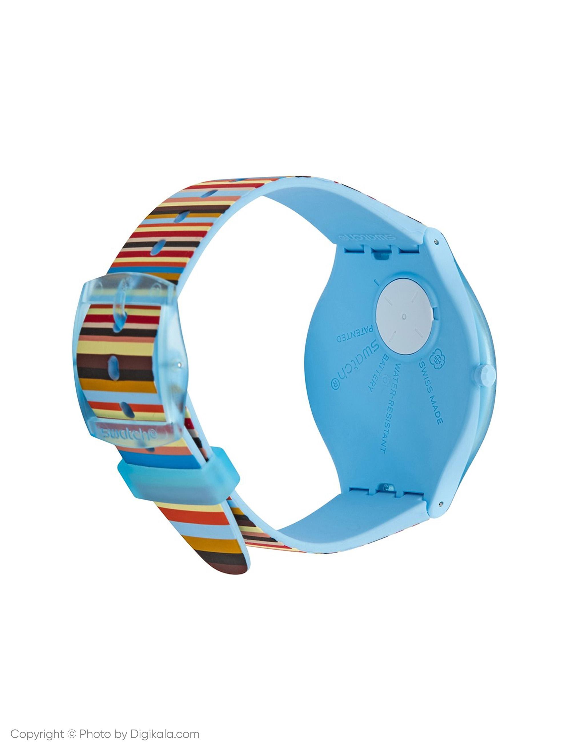 ساعت مچی عقربه ای زنانه سواچ مدل SVUL100 - چند رنگ - 4
