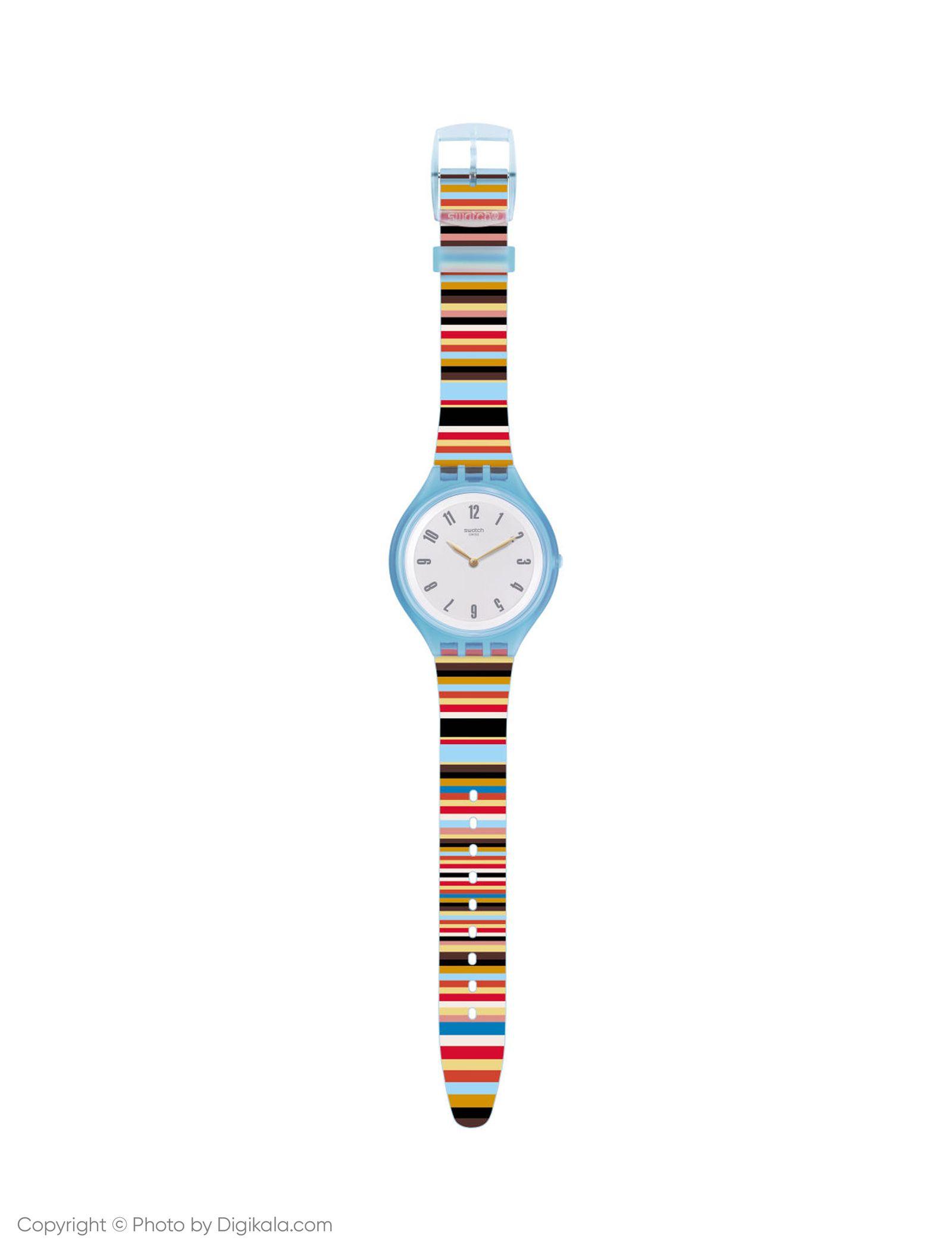 ساعت مچی عقربه ای زنانه سواچ مدل SVUL100 - چند رنگ - 5