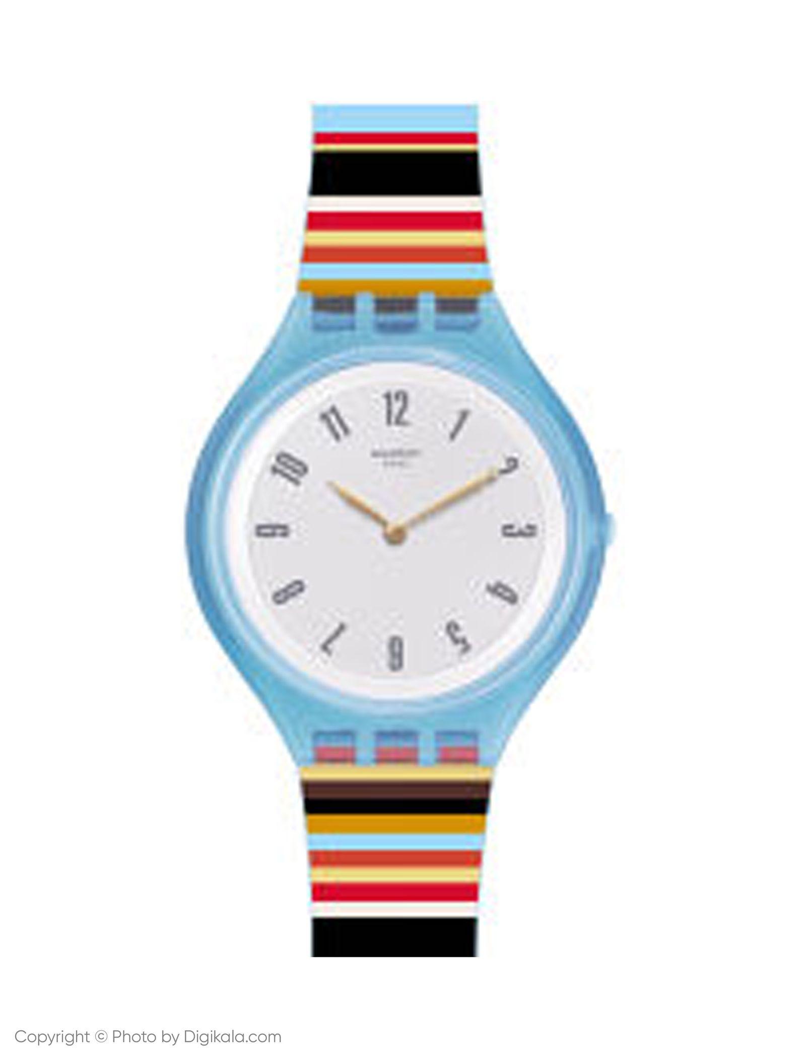 ساعت مچی عقربه ای زنانه سواچ مدل SVUL100 - چند رنگ - 1