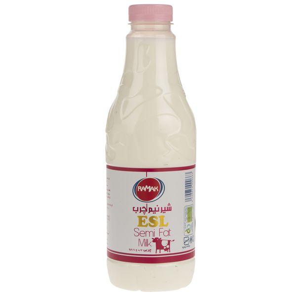 شیر نیم چرب رامک مقدار 946 میلی لیتر
