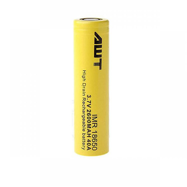 باتری لیتیوم یون قابل شارژ ای دبلیو تی کد 18650 ظرفیت 2600 میلی آمپر ساعت