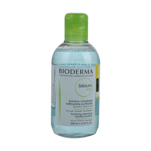 محلول پاک کننده آرایش بایودرما مدل Sebium H2O حجم 250 میلی لیتر